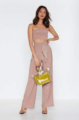 Nasty Gal Bandeau And Wide Leg Trouser Co-Ords