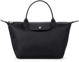 Longchamp Black Neo Le Pliage Small Satchel