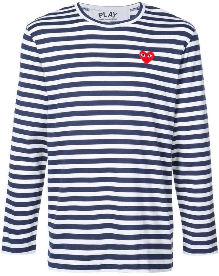 Comme Des Garçons Play striped long-sleeve T-shirt