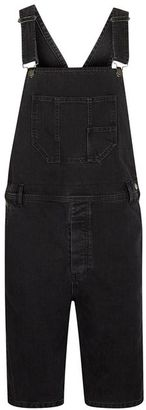 Black Denim Short Overalls $85 thestylecure.com