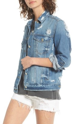 Women's Bp. Ripped Denim Jacket $69 thestylecure.com