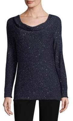Lafayette 148 New York Sequin Cowlneck Sweater