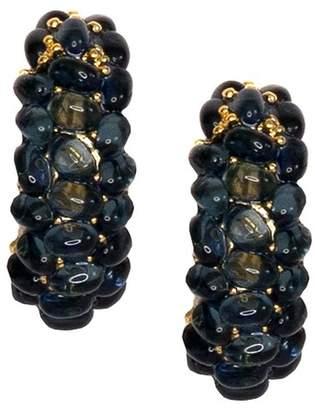 Kenneth Jay Lane Cabachon Clip Earrings