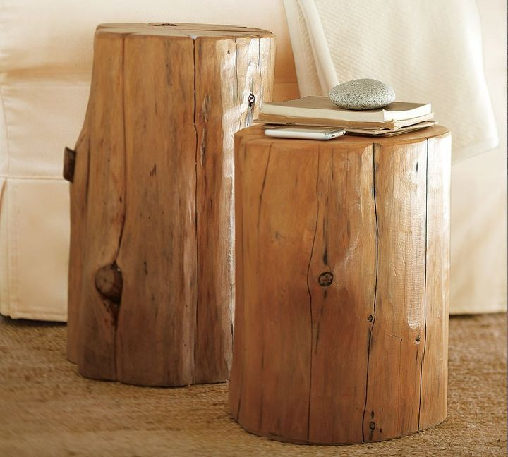 Rustic Reclaimed-Wood Accent Tables