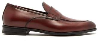 Harrys Of London - Clive R Leather Penny Loafers - Mens - Burgundy