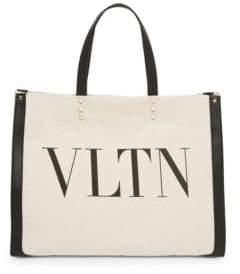 Valentino Small Canvas VLTN Tote