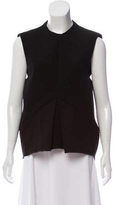 Ellery Pleat-Accented Sleeveless Top