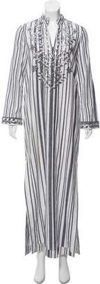 Tory Burch V-neck Striped Maxi Dress
