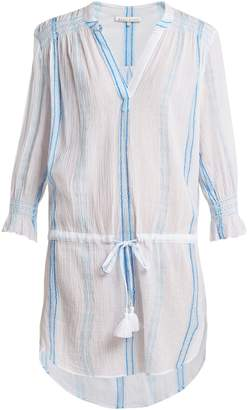 Heidi Klein Gilli smocked cotton tunic