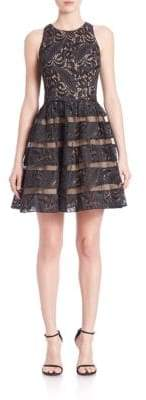 Adrianna Papell Lace Inset Dress