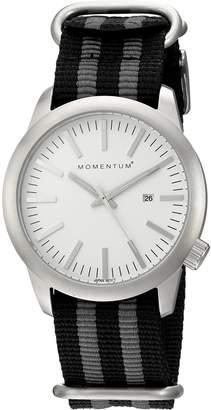 Momentum Men's 1M-SP10W7S Analog Display Japanese Quartz Black Watch