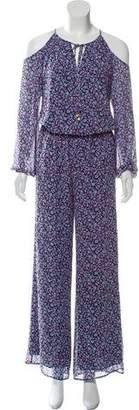 Michael Kors Floral Cold Shoulder Jumpsuit w/ Tags