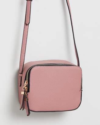 Dorothy Perkins Double Zip Square Cross-Body Bag