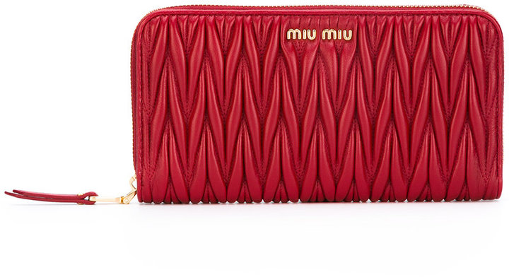 Miu MiuMiu Miu matelassé zip around wallet