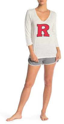 Munki Munki Rutgers Long Sleeve Tee & Knit Shorts 2-Piece Pajama Set