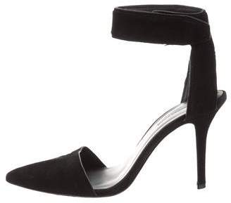 Alexander Wang Suede Ankle Strap Pumps