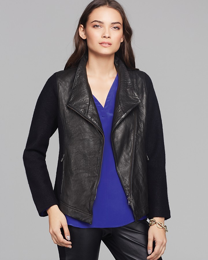 """Eileen Fisher Leather Front Jacket - """"Walking On The Edge"""" Collection"""
