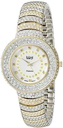 Burgi Women's BUR048TTG Analog Display Japanese Quartz Two Tone Watch