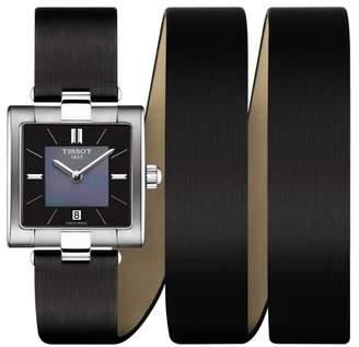 Tissot Women's T02 Leather Wrap Watch, 31.6mm