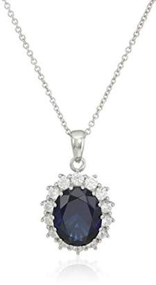 """Swarovski Amazon Collection Platinum-Plated Sterling Silver Celebrity""""Kate"""" Pendant Necklace and Earrings Set"""