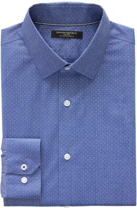 Banana Republic Camden Standard-Fit Non-Iron Dot Dress Shirt