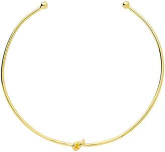Sterling Forever Gold Love Knot Collar Choker