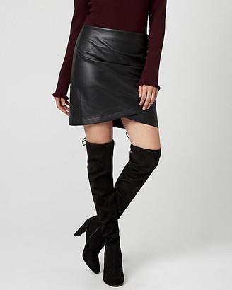 Le Château Leather-Like Mini Skirt