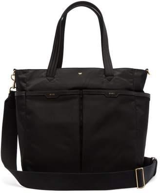 Anya Hindmarch Leather Trim Baby Tote Bag - Womens - Black