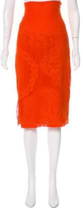 Jean Paul Gaultier Patterned Knit Skirt