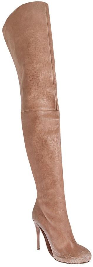 Maison Martin Margiela Thigh high leather boot