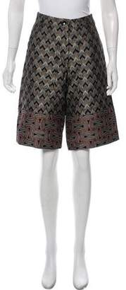 Dries Van Noten Jacquard Knee-Length Shorts