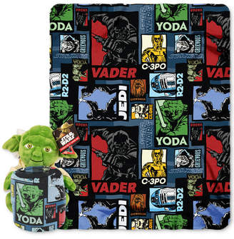 "Disney Star Wars ""Yoda Story"" Hugger Pillow & Throw Set by"