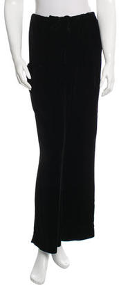 Yohji Yamamoto Velvet Wide-Leg Pants w/ Tags $175 thestylecure.com