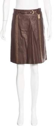 Thomas Wylde Leather Embellished Skirt