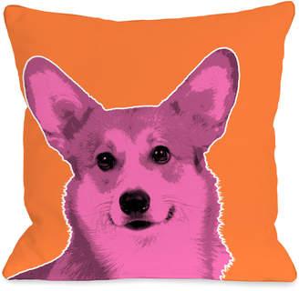 Corgi One Bella Casa Whisker Dogs Pillow