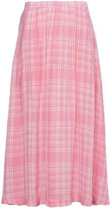 Rosie Assoulin Checked Voile Midi Skirt