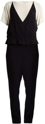 Vanessa Bruno Gib short-sleeved tapered crepe jumpsuit