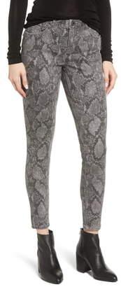 Wit & Wisdom Ab-solution Print Side Zip Ankle Skinny Jeans