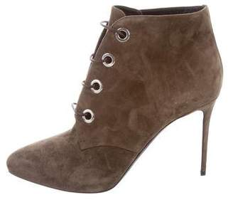 Belstaff Lace-Up Suede Ankle Booties