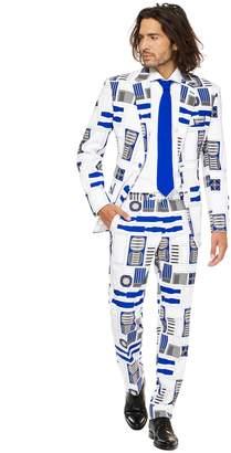 Star Wars Opposuits Men's OppoSuits Slim-Fit R2-D2 Novelty Suit & Tie Set