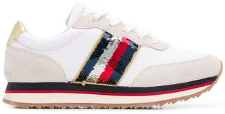 Tommy Hilfiger sequin detail running sneakers