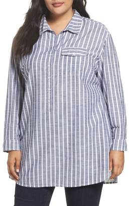 Caslon Tie Neck Cotton Tunic