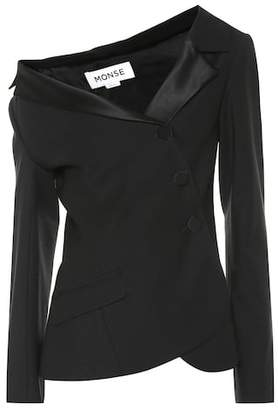 Monse Asymmetric wool jacket