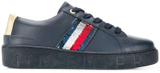 Tommy Hilfiger sequin detail sneakers