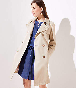 LOFT Tall Floral Lined Trench Coat