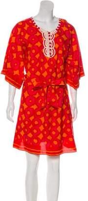 Miguelina Printed Midi Dress