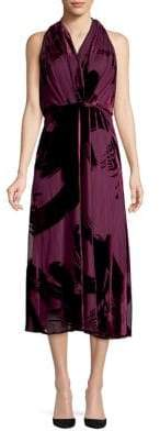 Taylor Sleeveless Velvet Midi Dress