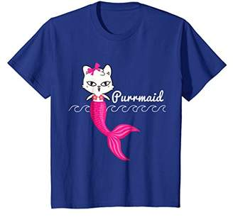 Adorable Purrmaid T Shirt Women Girls Mermaid Shirts