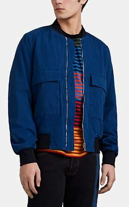 Paul Smith Men's Cotton Twill Bomber Jacket - Blue