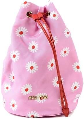 Miu Miu Floral Print Bucket Bag